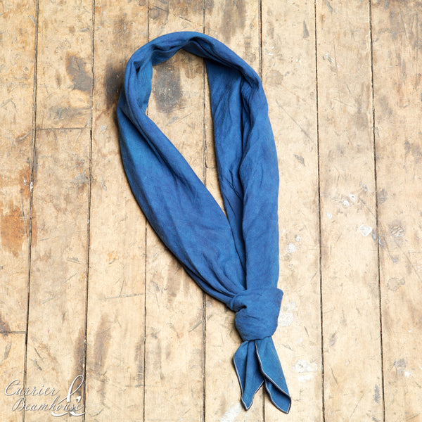 Hand dyed indigo bandana - Currier & Beamhouse