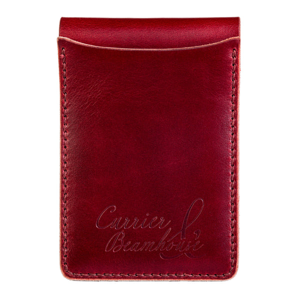 Two slot vertical wallet, oxblood Horween Legacy - Currier & Beamhouse