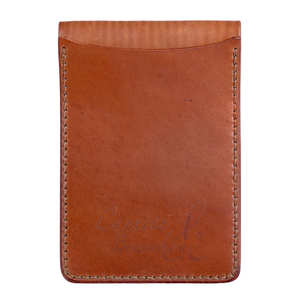 Two slot vertical wallet, tan Horween shell cordovan - Currier & Beamhouse