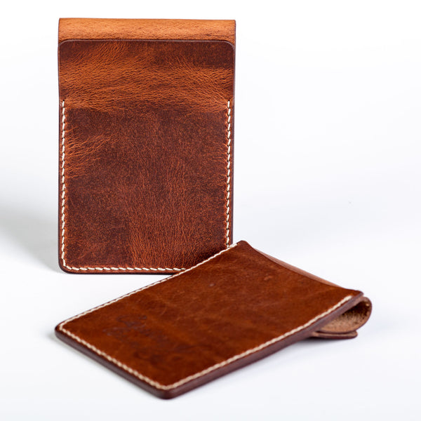 Two slot vertical wallet, tan Horween Dublin - Currier & Beamhouse