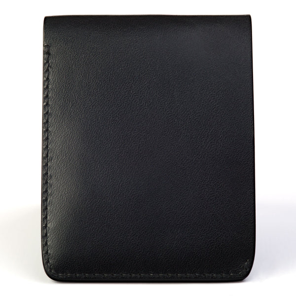 Traditional bifold wallet, black English bridle - Currier & Beamhouse
