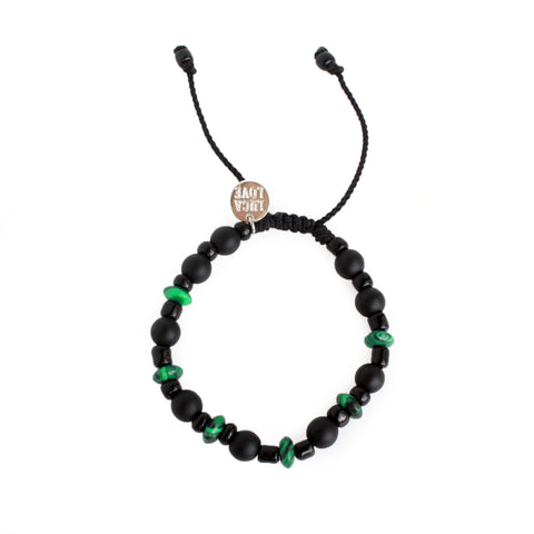 Tristan Kids Onyx and Jade Bracelet
