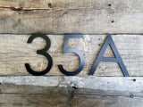 4'' Modern House Numbers Black Metal Composite Stud Mounted Address Numbers And Letters Minimalist Contemporary