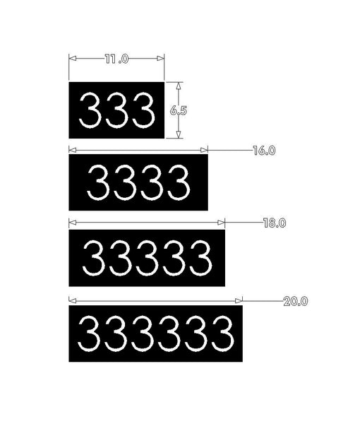 Black House Numbers Address Plaque Modern Minimalist Custom Sizes Available Custom Made in the USA