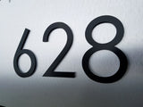 8'' Black Modern House Numbers Stud Mounted Metal Address Numbers And Letters Minimalist Contemporary
