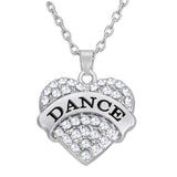 I (Heart) Dance Pendant and Chain