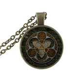 Glass Trinity Pendant & Chain