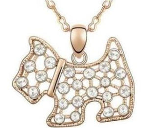 Scottie Dog Pendant and Chain