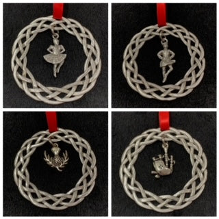 Pewter Christmas Ornament - Celtic Wreath