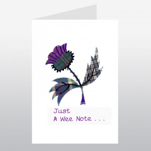 Greeting / Thank You Card (Thistle)