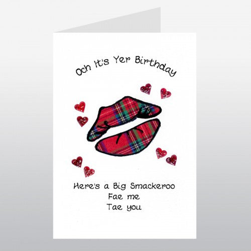 Birthday Card (Tartan Lips)