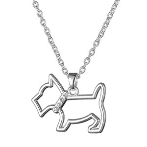 Scottie Dog with Sparkle Collar & Chain