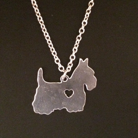 Scottie Dog Charm & Chain
