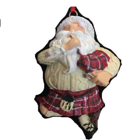 Dancing Santa Christmas Ornament
