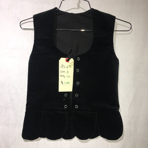 "Aboyne Vest #27 - Black - 27.5"" Chest"