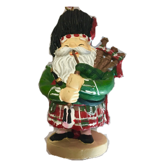 Piping Santa Christmas Ornament