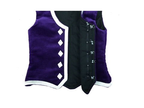 Highland Vest - Silver Trim - Child - Slim Fit