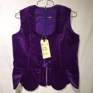 "Aboyne Vest #13 - Purple - 38"" Chest"