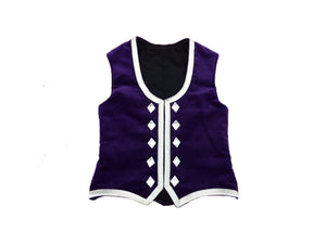Highland Vest - Silver Trim - Child - Standard Fit