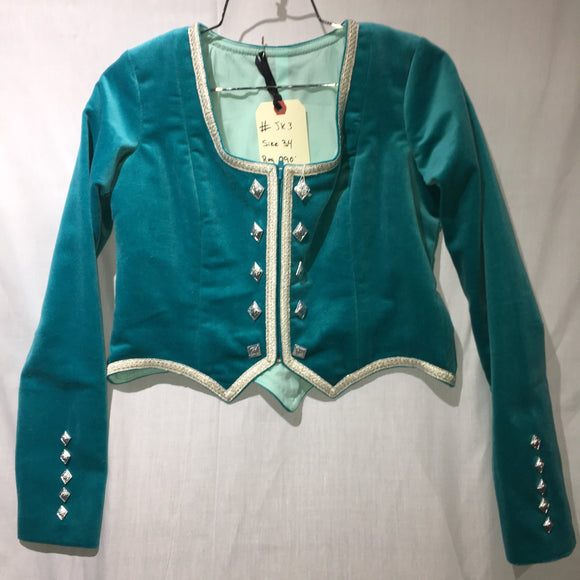 Highland Jacket #3 - Aqua - 36