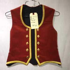 "Highland Vest #5 - Rust - 29"" Chest"