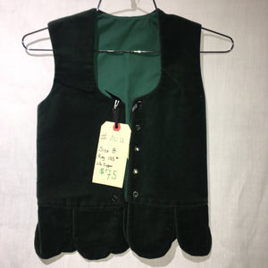 "Aboyne Vest #11 - Forest Green - 27"" Chest"