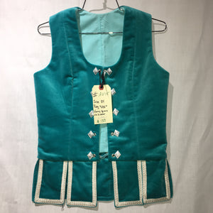"Aboyne Vest #15 - Aqua - 37"" Chest"