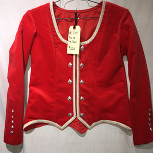 "Highland Jacket #9 - Scarlet Red - 40"" Chest"