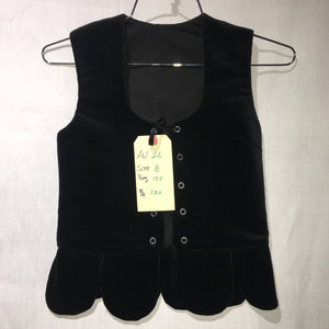 "Aboyne Vest #26 - Black - 27.5"" Chest"