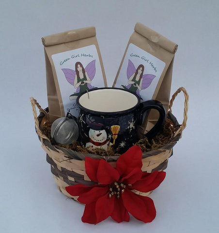 Organic Herbal Tea Basket