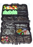 Sea Fishing Tackle Set Boxed 597 pcs  in Tackle bit box swivels crimps hooks