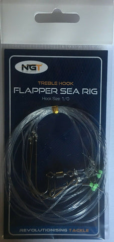 Sea Fishing Flapper Rig - 3 Hook Flapper Size 1/0
