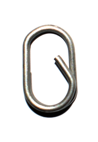 Oval split ring lead clips - easy links 8.5 mm long