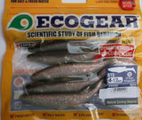 Shad Lures  BTS ECOGEAR - (6 per pack)  4.5 inch / 6 colours FREE SHIPPING