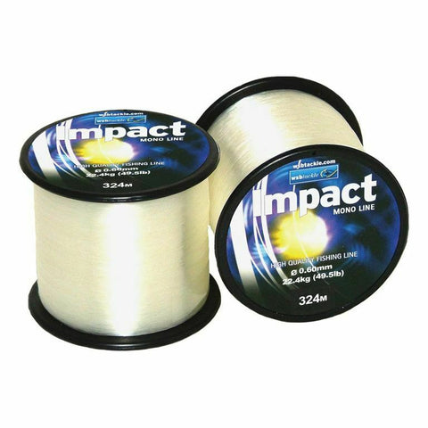 49.5lb Monofilament Clear Fishing Line - 4oz Spool - Low Diameter Sea Pike Carp