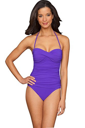 048ce814f2 Profile by Gottex Tutti Fruitti Bandeau One Piece Swimsuit - forENVY