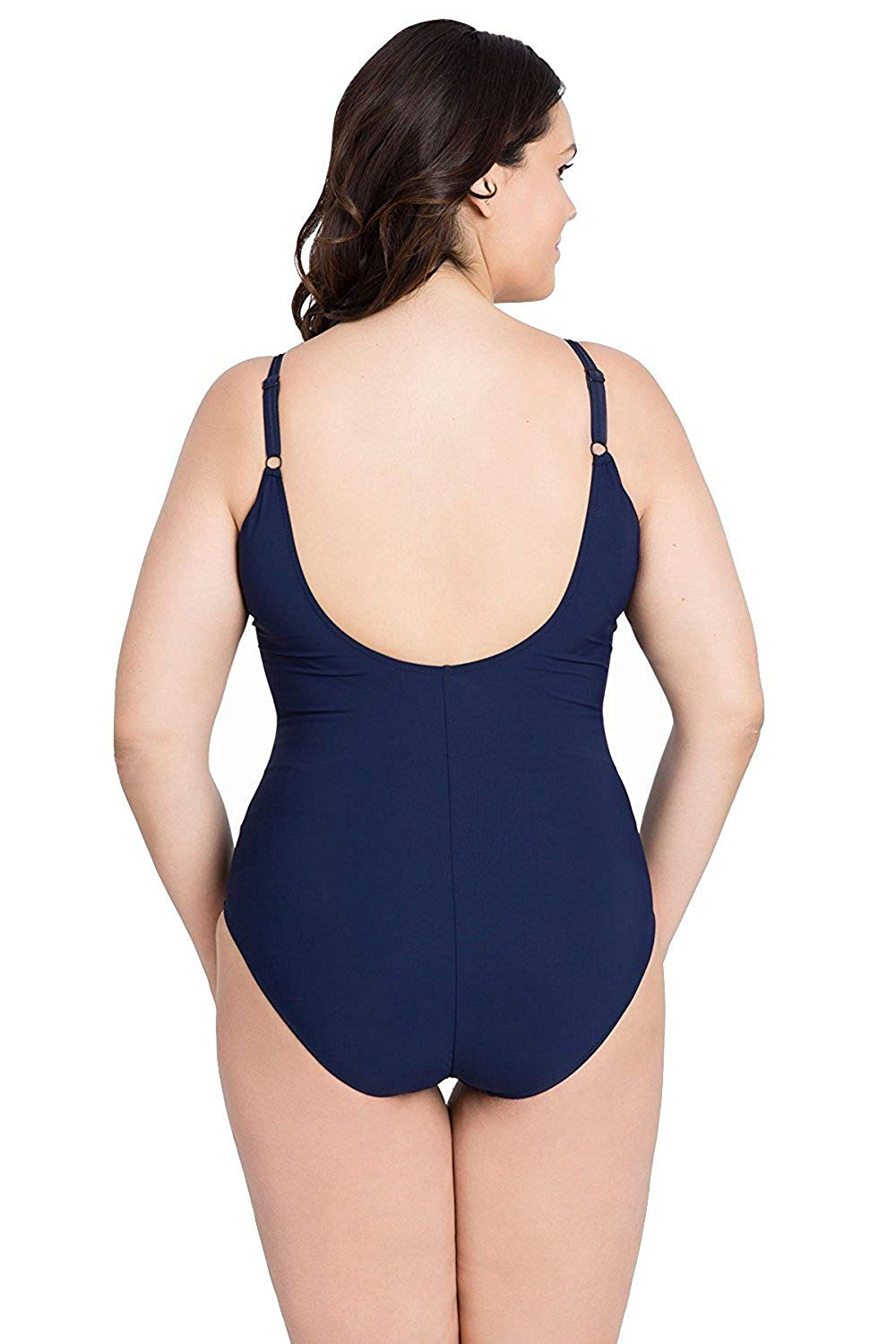 9a5eed7eeb0f9 ... Profile by Gottex Blue Lagoon Plus Size One Piece Tank Swimsuit -  forENVY