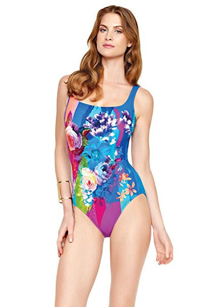 ec7b12d599f Gottex In Bloom Wide Strap Tank One Piece Swimsuit - forENVY