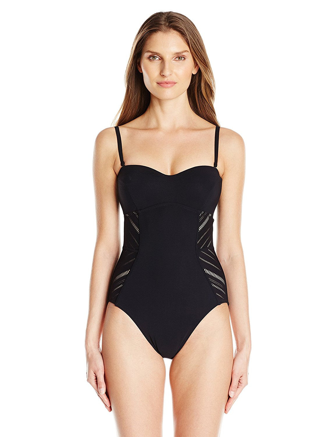 b298b5a6f6 Profile by Gottex Some Like It Hot Bandeau One Piece Swimsuit - forENVY ...