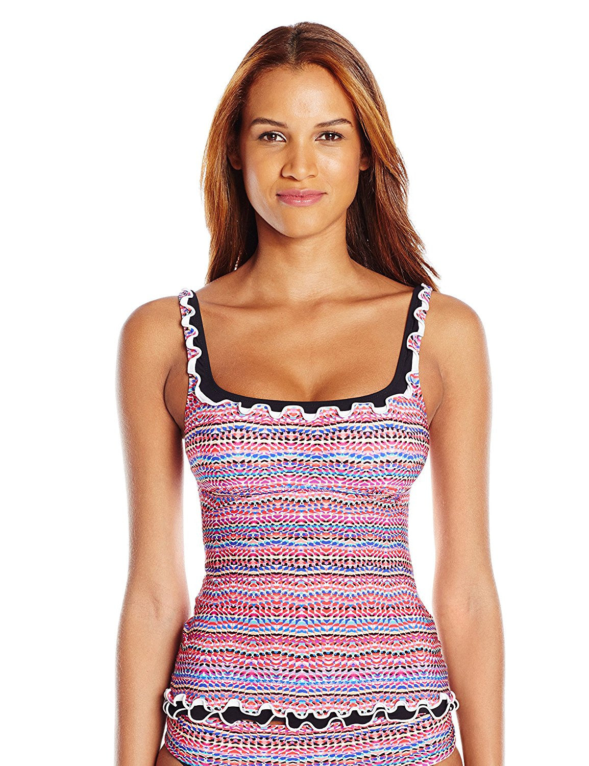 6bf4199b2d Profile by Gottex Rio Printed Scoop Neck Tankini Top - forENVY
