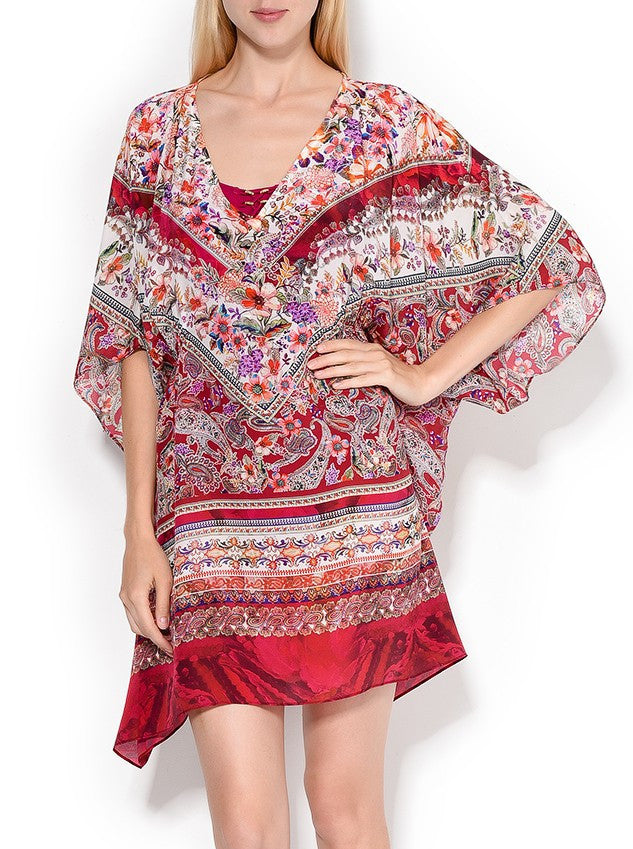ba3308eef3ad4 Gottex Shiraz Silk Caftan Swim Cover Up - forENVY