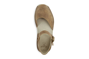 Castell Avarcas Men's Fraileras Nut Leather Monk Strap Sandals