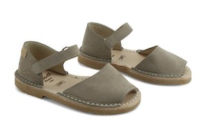 Castell Avarcas Kids Frailera Bison Leather Velcro Strap Sandals