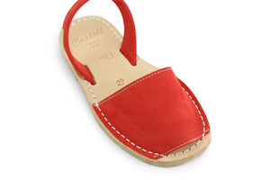 Castell Avarcas Kids Classics Pomodoro Leather Slingback Sandals