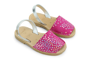 Castell Avarcas Kids Classics Fucshia Leather Slingback Sandals