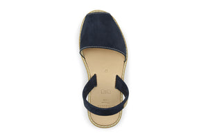 Castell Avarcas Women's Classics Dark Navy Leather Slingback Sandals