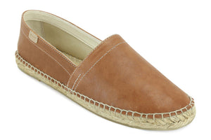 Castell Men's Brown Leather Espadrilles