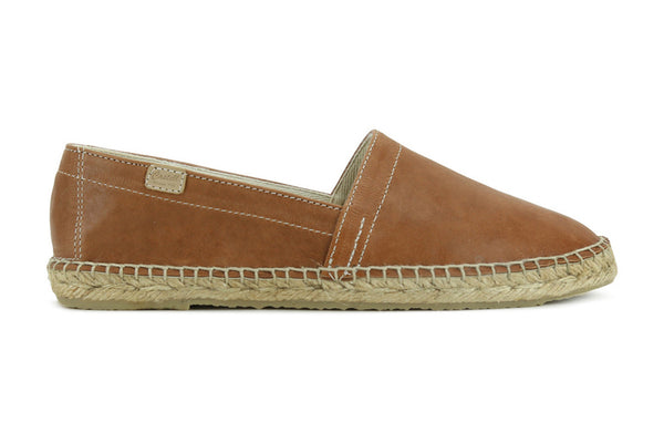 Castell Women's Brown Leather Espadrille