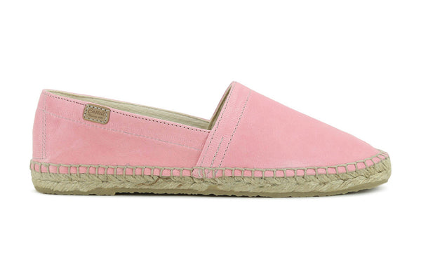 Castell Women's Orchid Pink Leather Espadrilles
