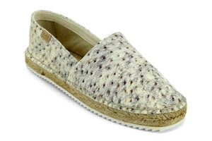 Castell Women's White Dune Leather Espadrilles